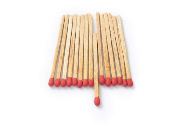 Matches - leadership or inspiration concept  on white background