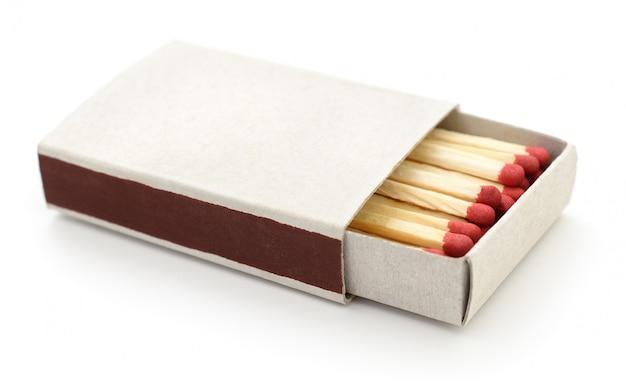 Matches in a matchbox.