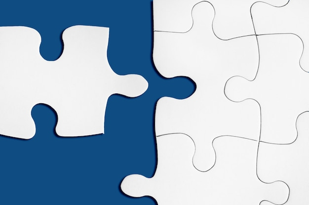 Matching puzzle piece. successful decision, solution of problem.