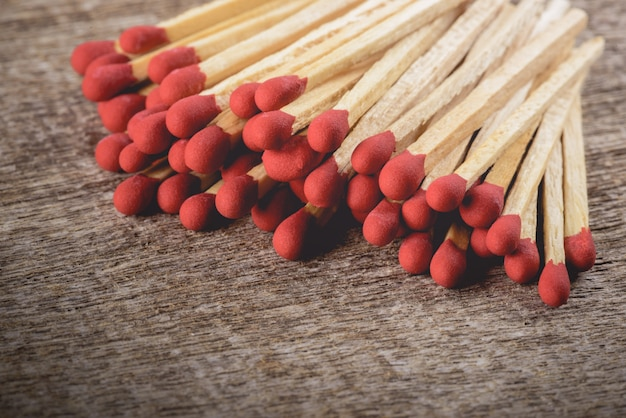 Matchsticks  with filter effect retro vintage style