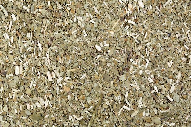 Мате сан педро, жареные листья чая мате. фотография высокого разрешения.