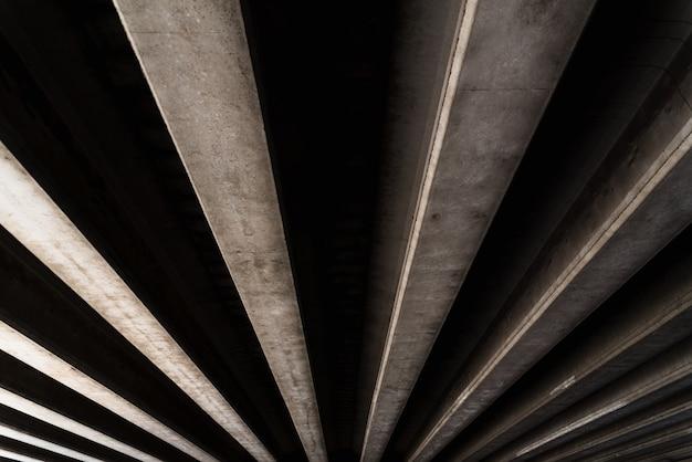 平行に配置されたコンクリートテクスチャを持つマテリアルの背景