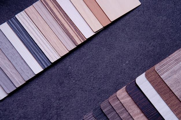 Материалы концепция ламината, паркета, фанеры и винилового пола.