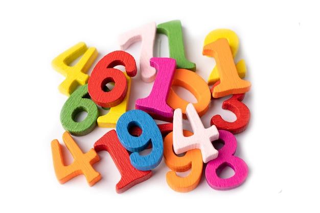 Математический номер красочный