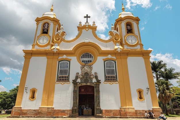 Matriz de santo antonio church, colonial city of tiradentes, minas gerais state, brazil