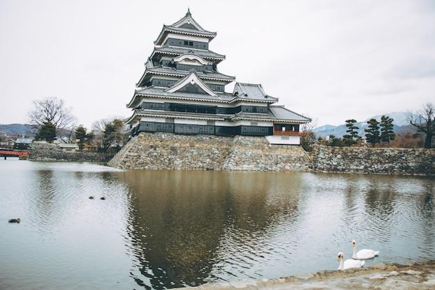 日本の松本城
