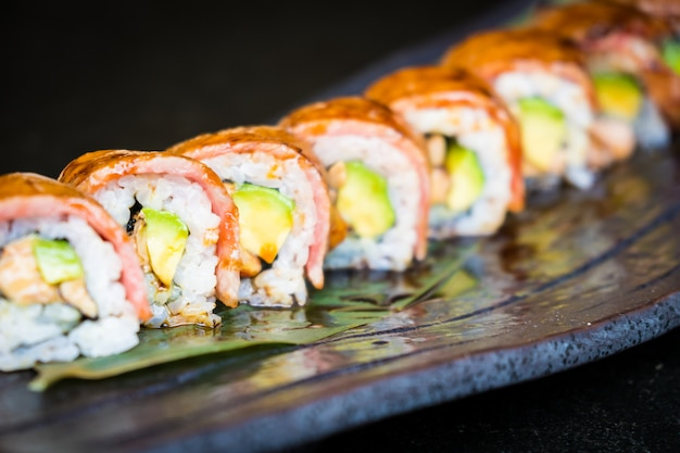 Matsusaka and wagyu beef sushi