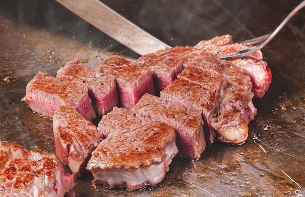 松阪和牛和牛鉄板焼きステーキ