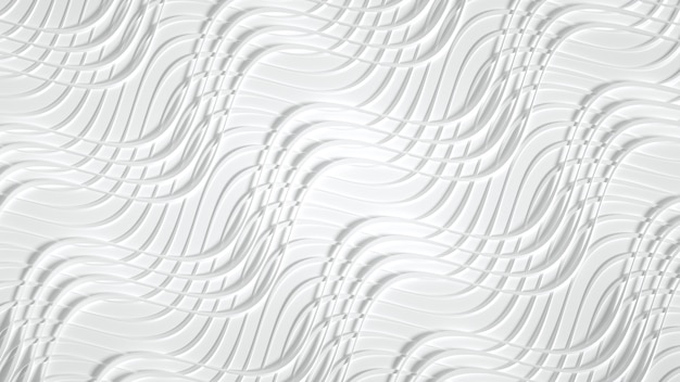 Матовая с объемным принтом, волнами и полосами.