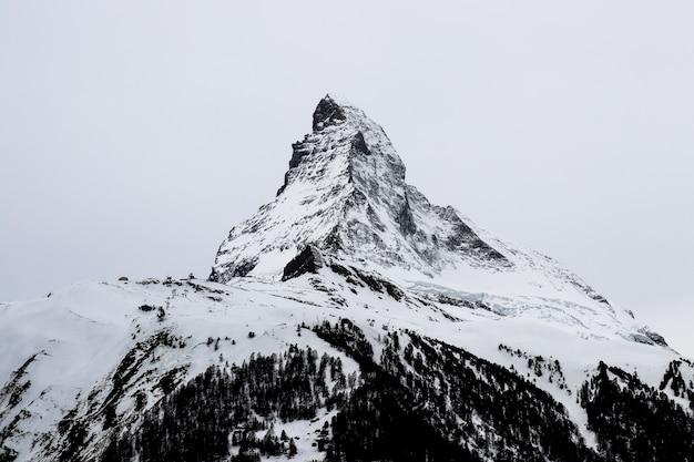 Matterhorn in the white sky