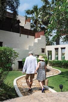 Mature couple vacationing at a resort