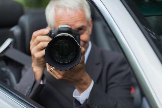 Mature paparazzi spying