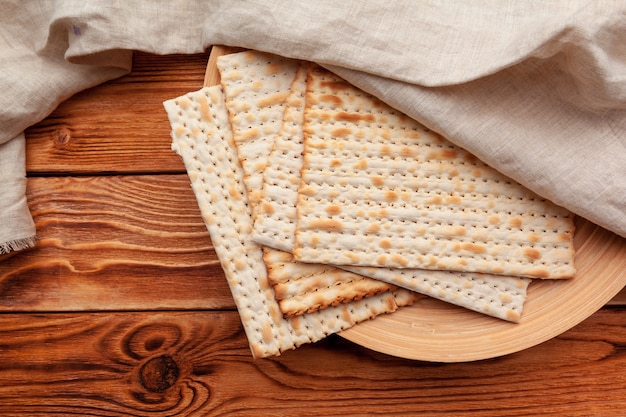 Matzo flatbread for jewish holiday celebrations