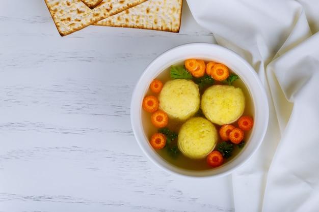 Matzo matzah balls soup passover jewish holiday food - matzah balls soup