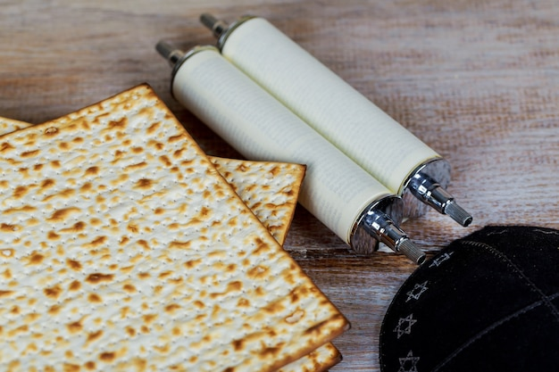 Matzot and red wine -symbols of passover
