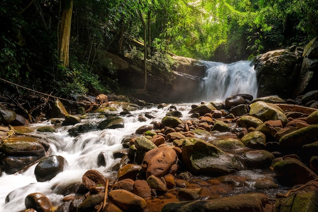 タイ、プーソーイダーオ国立公園3階マウンファン滝