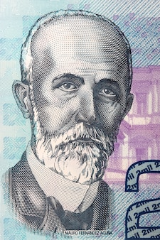 Mauro fernandez acuna portrait from costa rican banknote