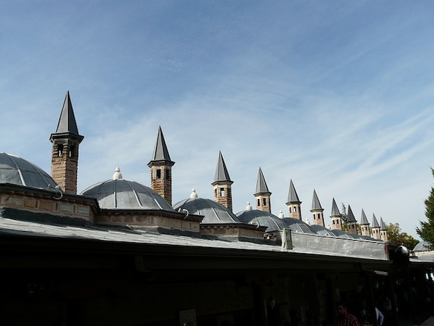 Mausoleum mevlana mosque roofs konya turret