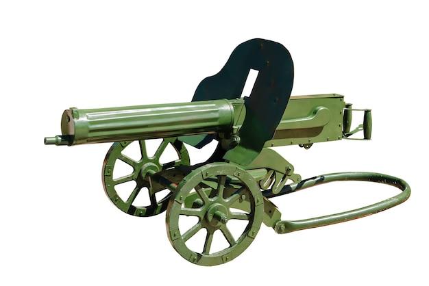 Пулемет максима. белый фон, изолированные