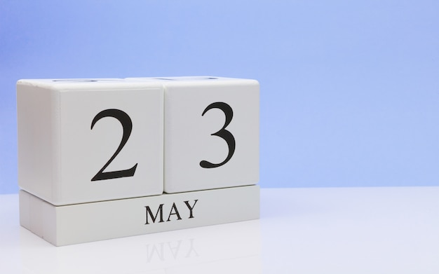 May 23st. day 23 of month, daily calendar on white table