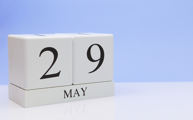 May 29st. day 29 of month, daily calendar on white table