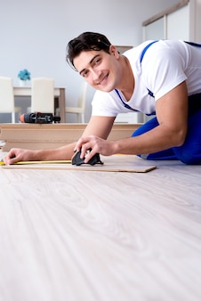 May laying laminate flooring at home