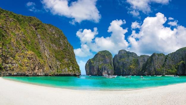 Maya bay on koh phi phi leh island in thailand