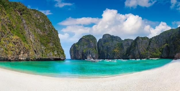 Maya bay on koh phi phi leh island, thailand