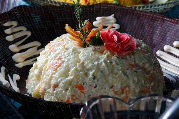 Майонез с овощами