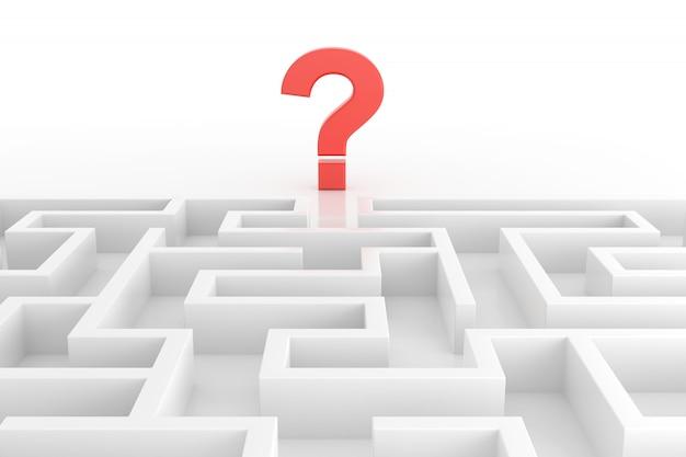ソリューションの概念を見つける迷路。 3dレンダリング。