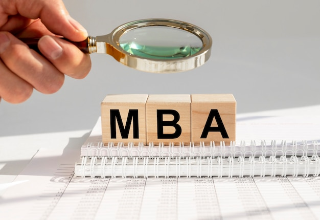 Mba acronym inscription. master of business administration concept, education.