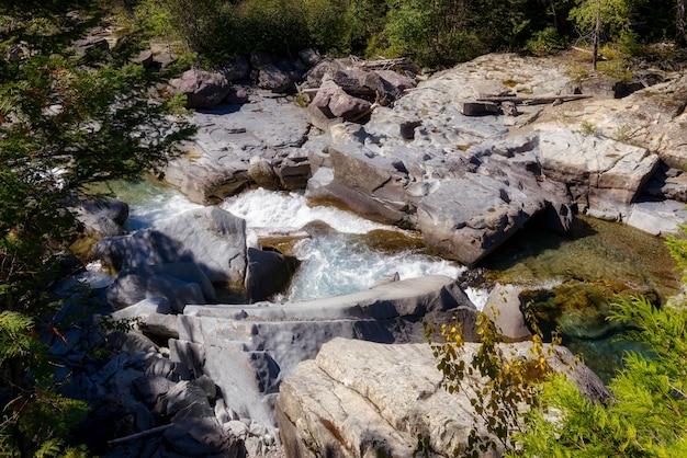 グレイシャー国立公園のマクドナルドクリーク