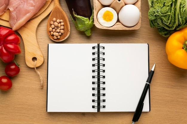 食事計画のメモ帳と食事の手配