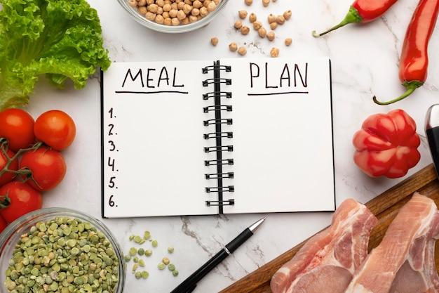 Блокнот для планирования еды и состав еды