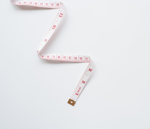 Measure tapes isolated on white background