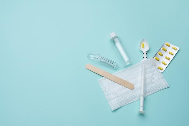 薬用注射器とマスクの測定