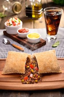 Meat pastry (pastel de carne) - traditional brazilian