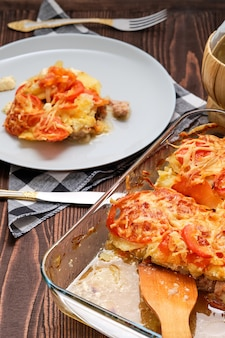 Meat and potato casserole , simple country food