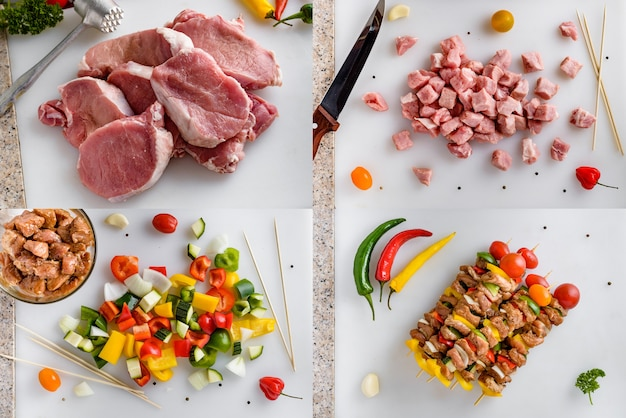 Обработка мяса мясным молотком