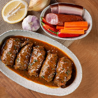 Meat rolls in delicious tomato sauce