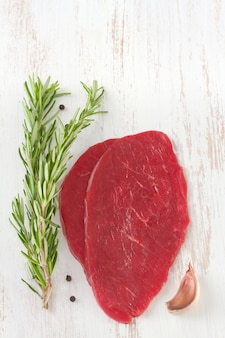 Meat with rosemary