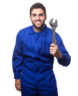 Mechanic with a wrench Free Photo