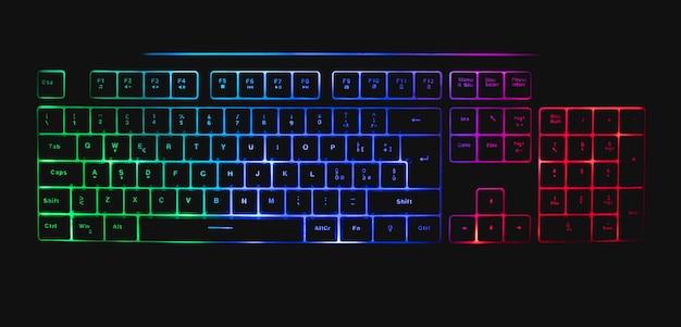 Механическая клавиатура со светодиодами и мышью