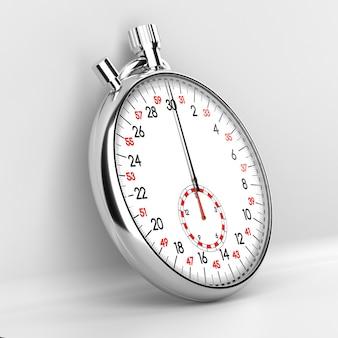 Mechanical stopwatch illustration. retro classic style clock.