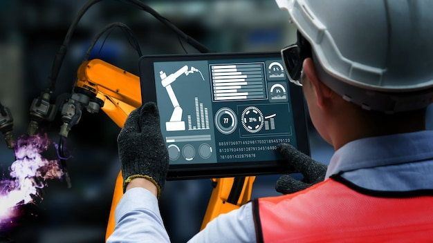 공장 생산의 기계화 산업
