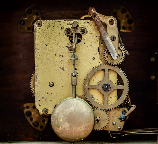 The mechanism of the old clock