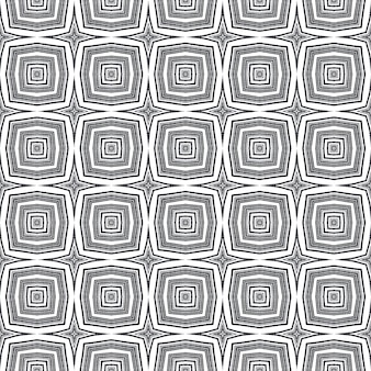 Medallion seamless pattern. black symmetrical kaleidoscope background. watercolor medallion seamless tile. textile ready fair print, swimwear fabric, wallpaper, wrapping.