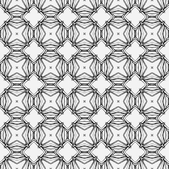 Medallion seamless pattern. black and white cute boho chic summer design. watercolor medallion seamless border. textile ready captivating print, swimwear fabric, wallpaper, wrapping.