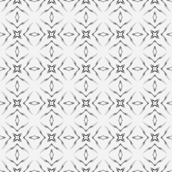 Medallion seamless pattern. black and white graceful boho chic summer design. watercolor medallion seamless border. textile ready marvelous print, swimwear fabric, wallpaper, wrapping.