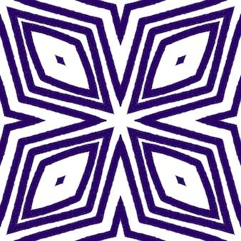 Medallion seamless pattern. purple symmetrical kaleidoscope background. textile ready ecstatic print, swimwear fabric, wallpaper, wrapping. watercolor medallion seamless tile.